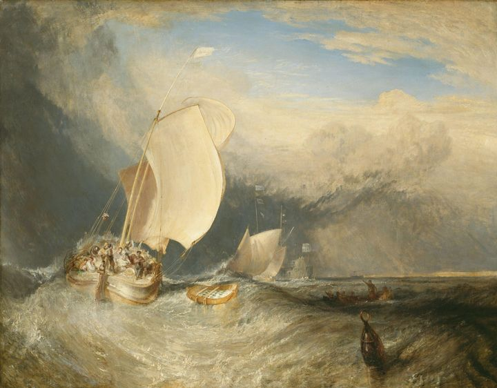 J. M. W. Turner~Fishing Boats with H - Classical art