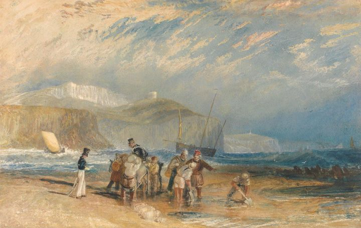 J. M. W. Turner~Folkestone Harbour a - Classical art