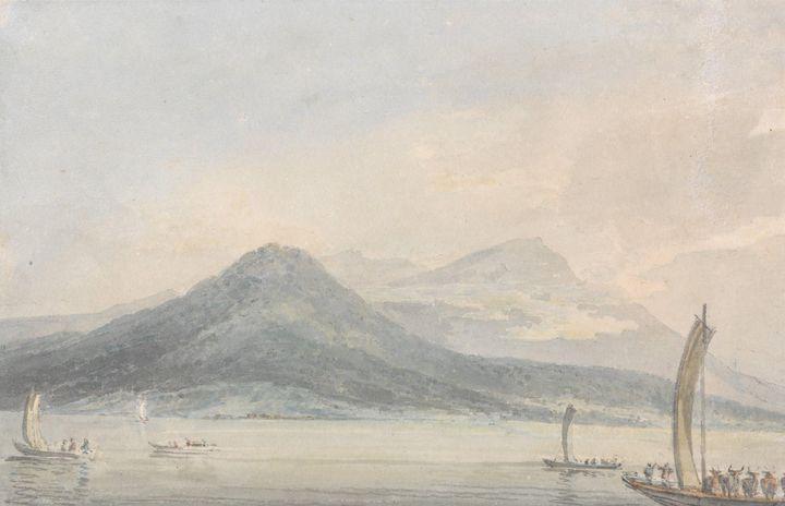 J. M. W. Turner~From the Isola Borro - Classical art