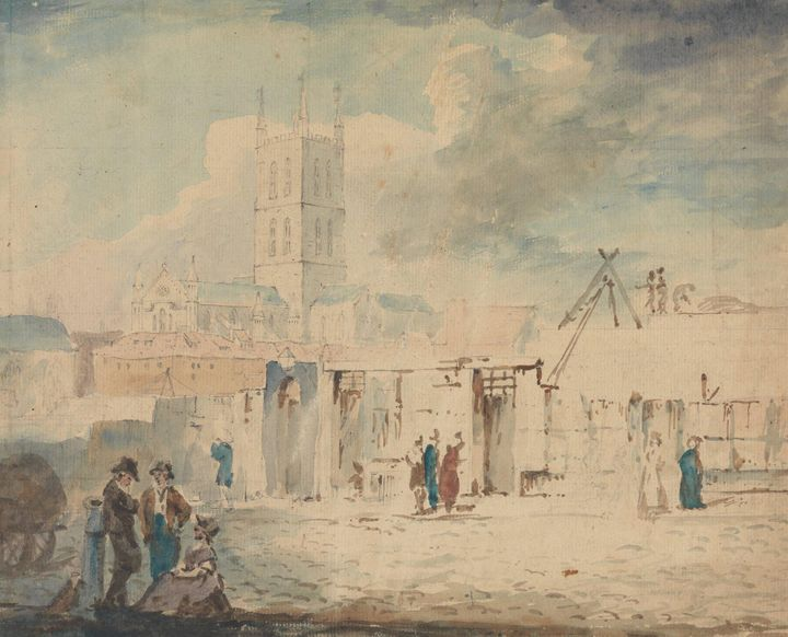 J. M. W. Turner~Gloucester Cathedral - Classical art