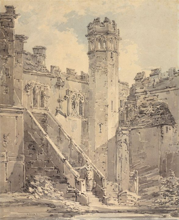 J. M. W. Turner~Haddon Hall near Bak - Classical art