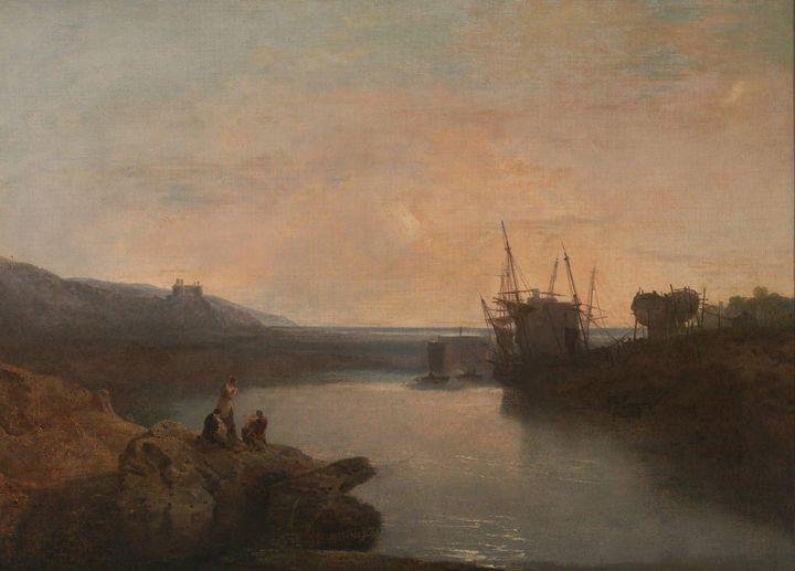 J. M. W. Turner~Harlech Castle, from - Classical art