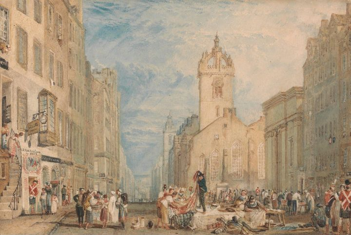 J. M. W. Turner~High Street, Edinbur - Classical art