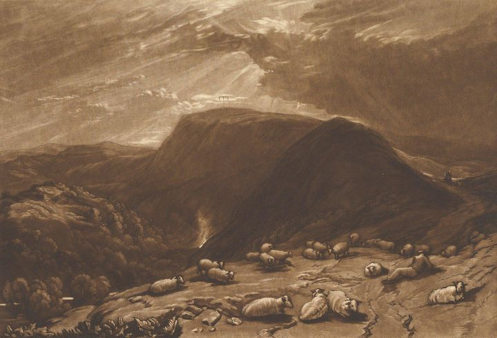 J. M. W. Turner~Hind Head Hill, On t - Classical art