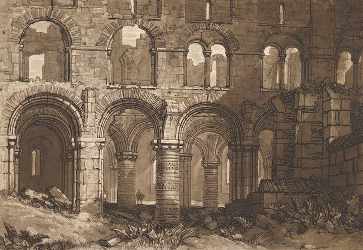 J. M. W. Turner~Holy Island Cathedra - Classical art