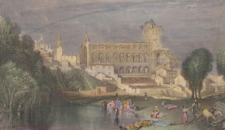 J. M. W. Turner~Jedburgh Abbey - Classical art