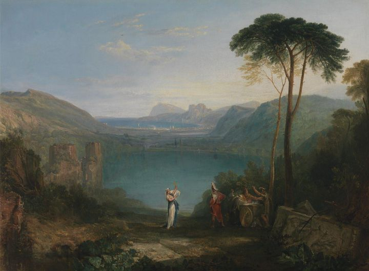 J. M. W. Turner~Lake Avernus Aeneas - Classical art