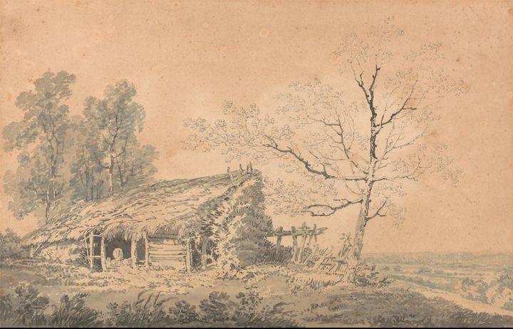 J. M. W. Turner~Landscape with Barn - Classical art