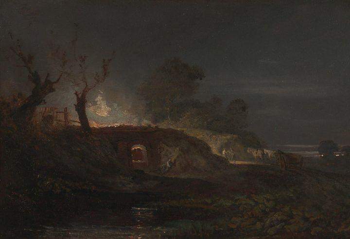 J. M. W. Turner~Limekiln at Coalbroo - Classical art