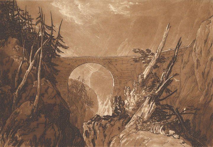 J. M. W. Turner~Little Devil's Bridg - Classical art