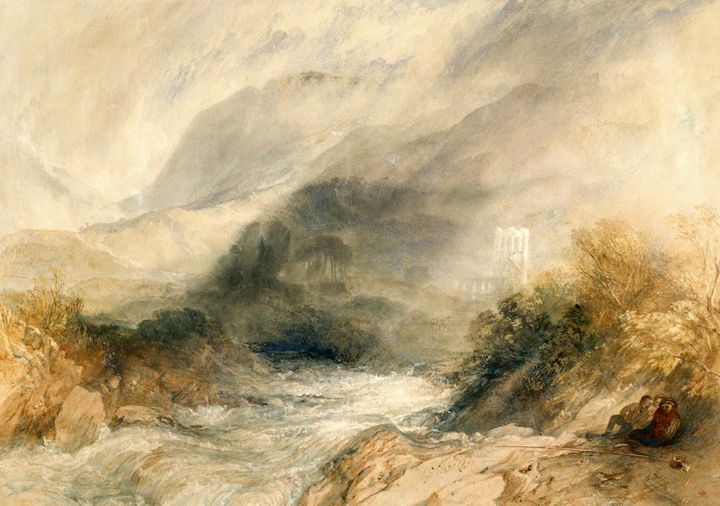 J. M. W. Turner~Llanthony Abbey, Mon - Classical art