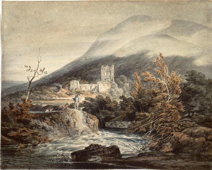J. M. W. Turner~Llanthony Abbey, Mon - Classical art