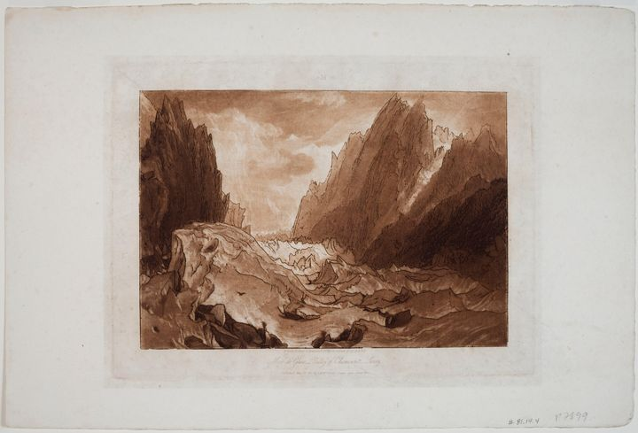 J. M. W. Turner~Mer de Glace - Valle - Classical art