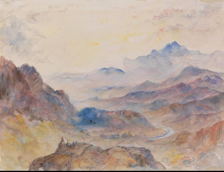 J. M. W. Turner~Mountain Scene, Mist - Classical art