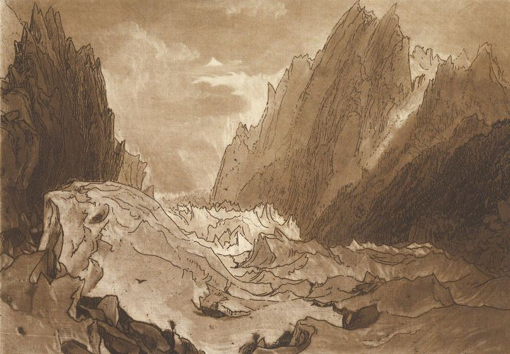J. M. W. Turner~Mêr de Glace, Valley - Classical art