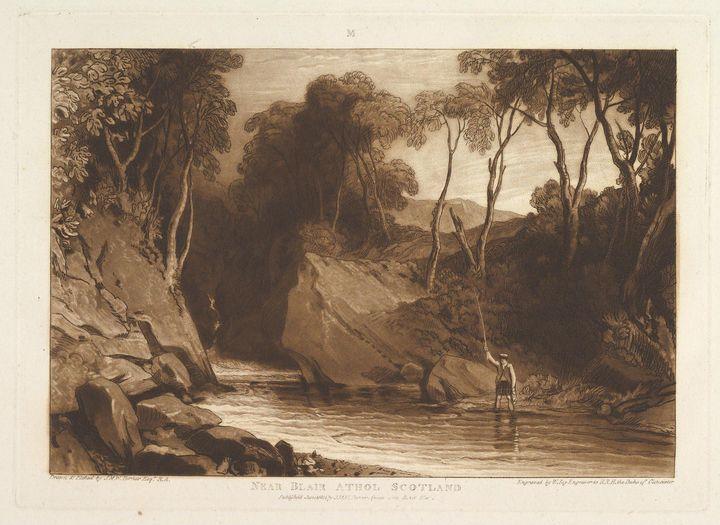 J. M. W. Turner~Near Blair Athol, Sc - Classical art