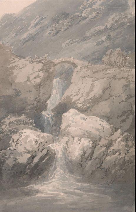J. M. W. Turner~Near Chiavenna - Classical art