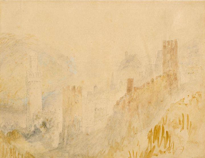 J. M. W. Turner~Oberwesel on the Rhi - Classical art