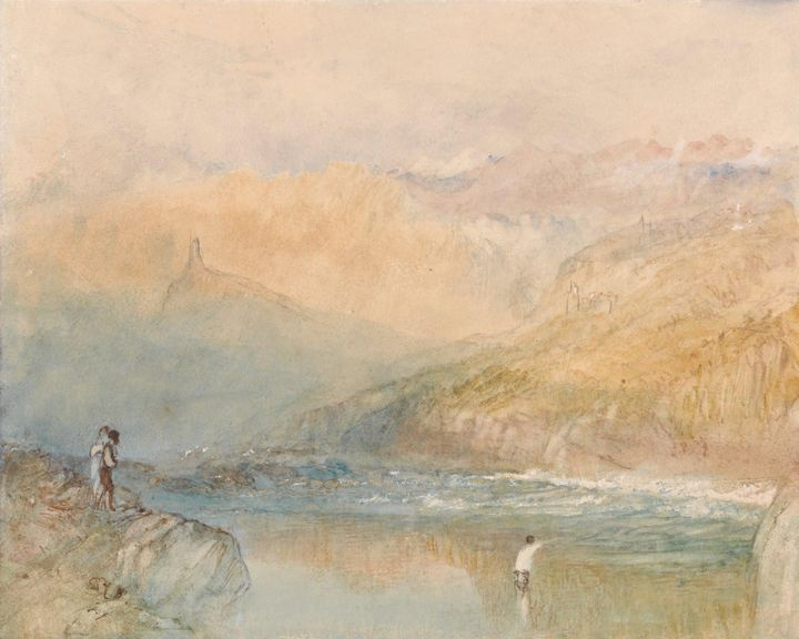 J. M. W. Turner~On the Mosell, Near - Classical art