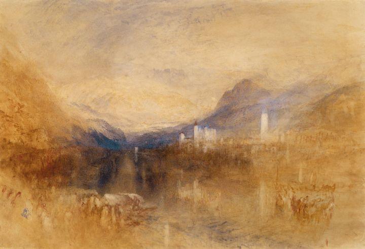 J. M. W. Turner~Pallanza,Lake Maggio - Classical art