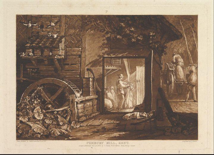 J. M. W. Turner~Pembury Mill, Kent ( - Classical art