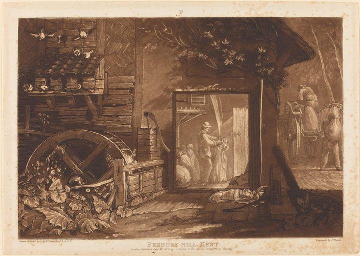 J. M. W. Turner~Pembury Mill, Kent - Classical art