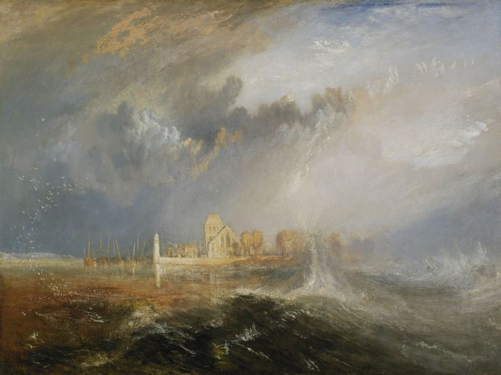 J. M. W. Turner~Quillebeuf, Mouth of - Classical art
