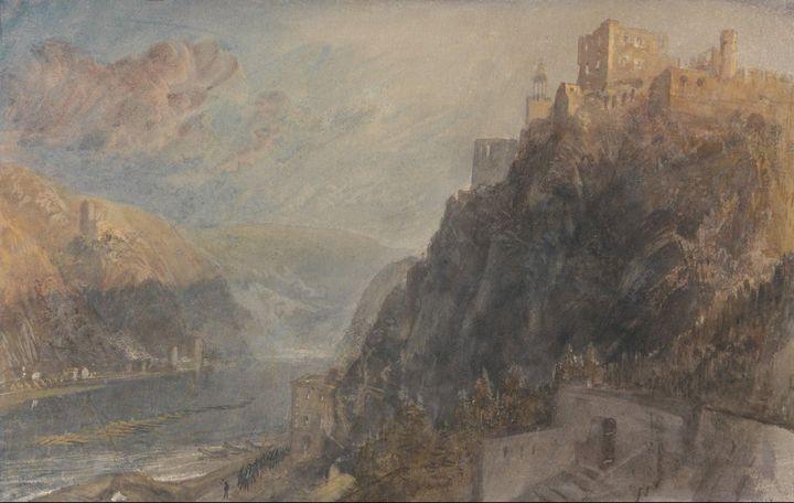 J. M. W. Turner~Rheinfels Looking to - Classical art