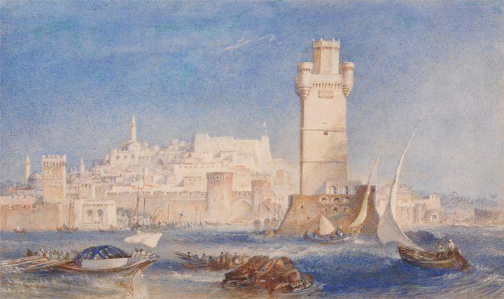 J. M. W. Turner~Rhodes - Classical art