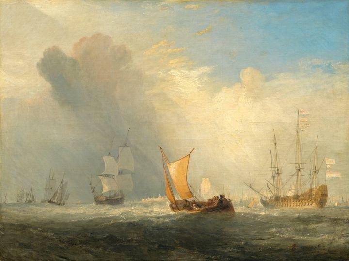 J. M. W. Turner~Rotterdam Ferry-Boat - Classical art