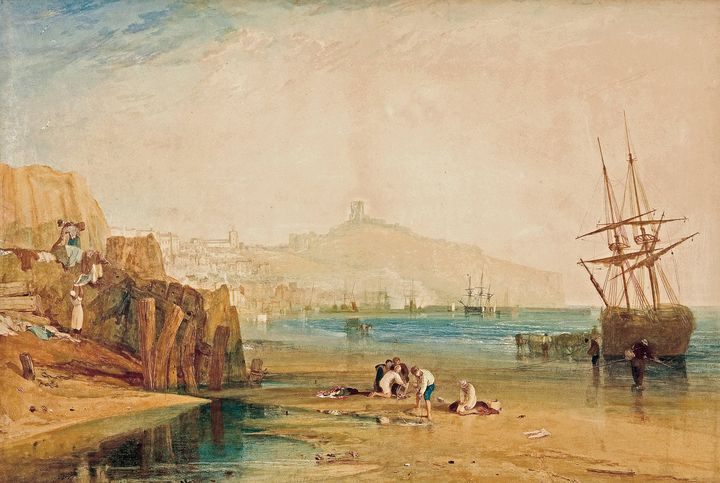 J. M. W. Turner~Scarborough town and - Classical art