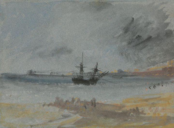 J. M. W. Turner~Ship Aground Brighto - Classical art