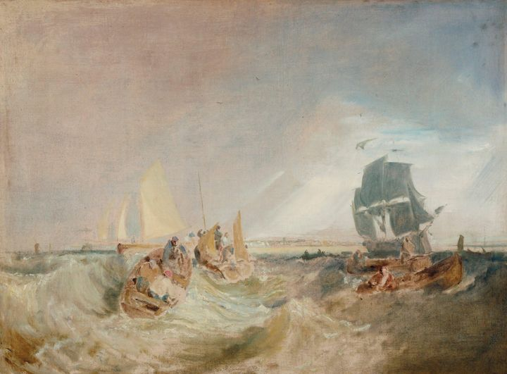 J. M. W. Turner~Shipping at the Mout - Classical art