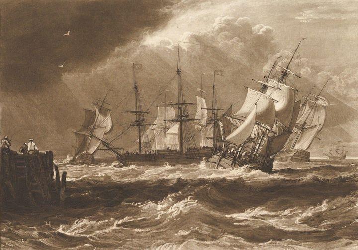 J. M. W. Turner~Ships in a Breeze (L - Classical art