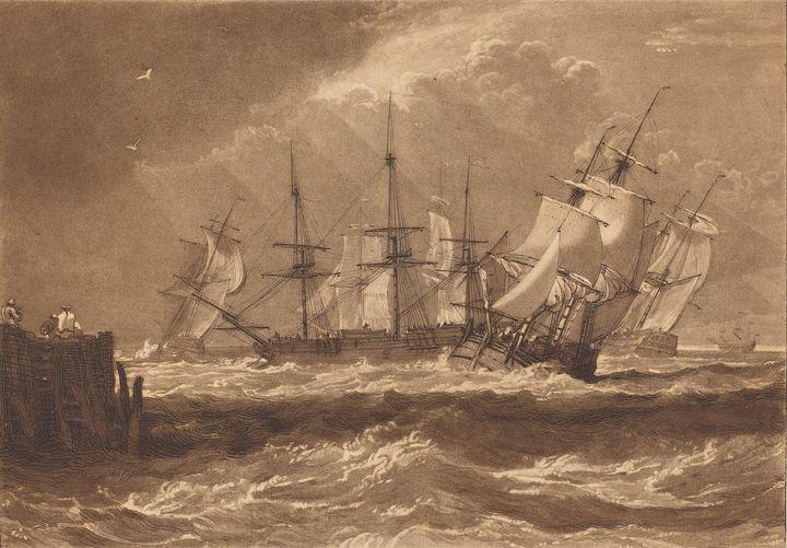 J. M. W. Turner~Ships in a Breeze - Classical art