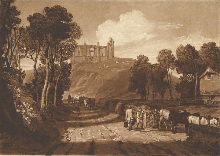 J. M. W. Turner~St. Catharine's Hill - Classical art