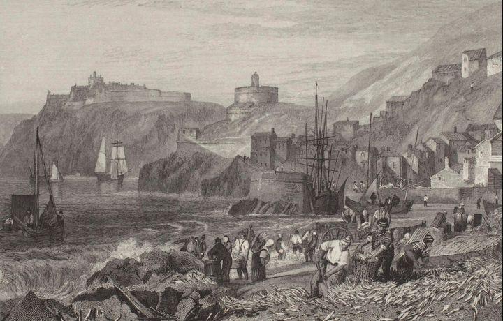 J. M. W. Turner~St. Mawes, Cornwall - Classical art