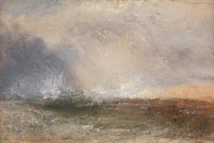 J. M. W. Turner~Stormy Sea Breaking - Classical art