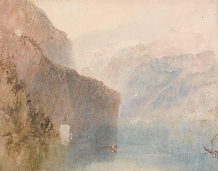 J. M. W. Turner~Tell's Chapel, Lake - Classical art