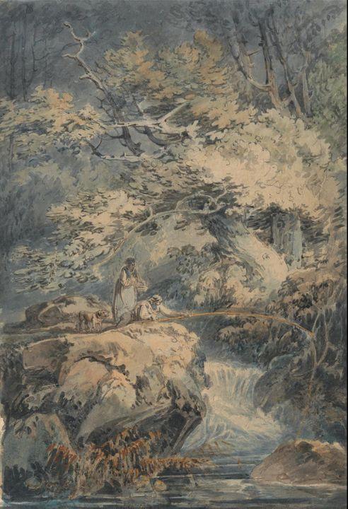 J. M. W. Turner~The Angler - Classical art