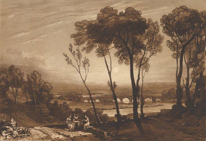 J. M. W. Turner~The Bridge in Middle - Classical art