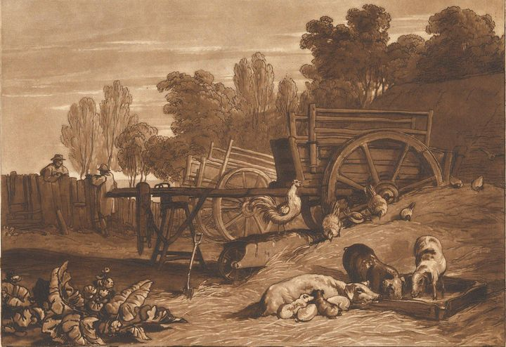 J. M. W. Turner~The Farm-Yard with t - Classical art