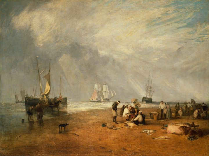 J. M. W. Turner~The Fish Market at H - Classical art