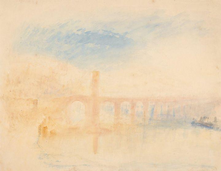 J. M. W. Turner~The Moselle Bridge, - Classical art