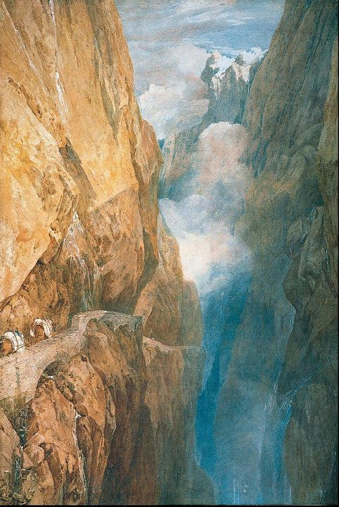 J. M. W. Turner~The Passage of Mount - Classical art