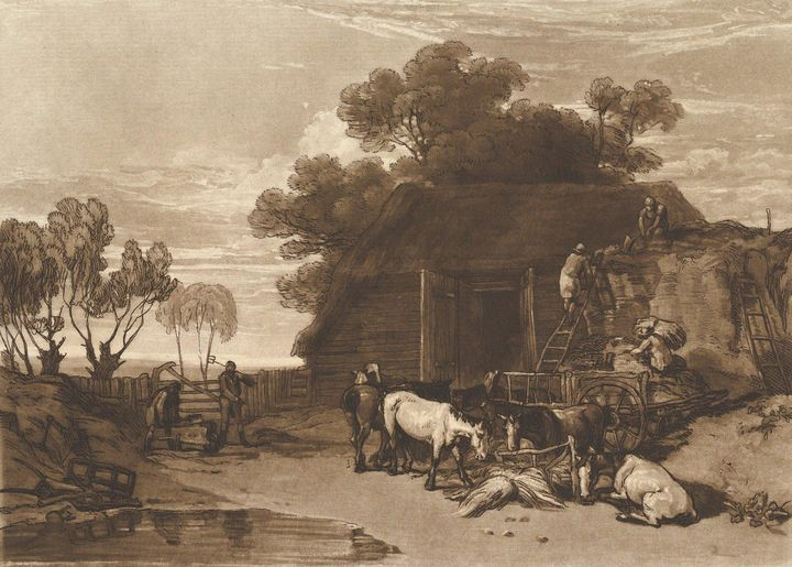 J. M. W. Turner~The Straw Yard (Libe - Classical art