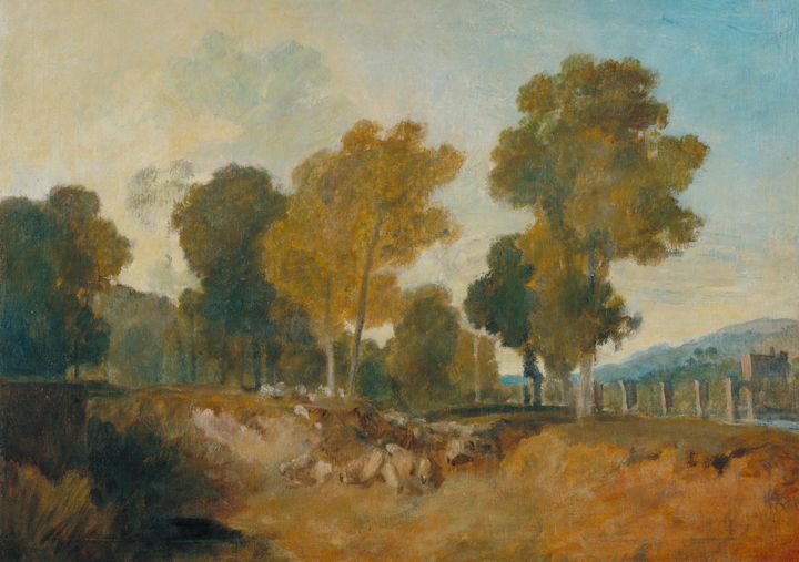 J. M. W. Turner~Trees beside the Riv - Classical art