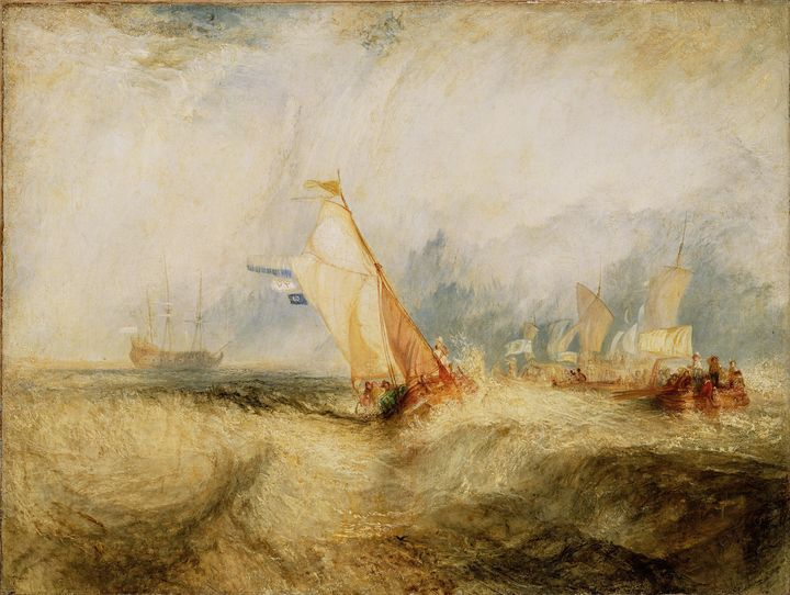 J. M. W. Turner~Van Tromp, Going Abo - Classical art