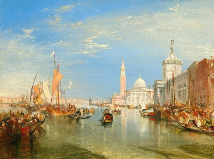 J. M. W. Turner~Venice The Dogana an - Classical art