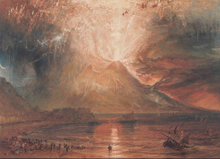 J. M. W. Turner~Vesuvius in Eruption - Classical art